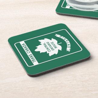 Ontario, Trans-Canada Highway Sign Beverage Coasters