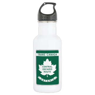Ontario, Trans-Canada Highway Sign 18oz Water Bottle