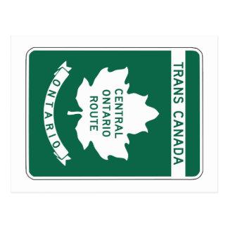 Ontario, Trans-Canada Highway Sign Postcard
