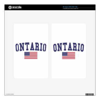 Ontario US Flag Skin For Kindle Fire