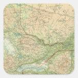 Ontario y Quebec Colcomanias Cuadradas Personalizadas