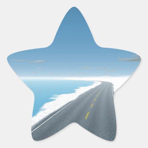 OnTheRoadAgain - camino del hielo Pegatina En Forma De Estrella