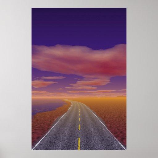 OnTheRoadAgain - camionero solitario Posters
