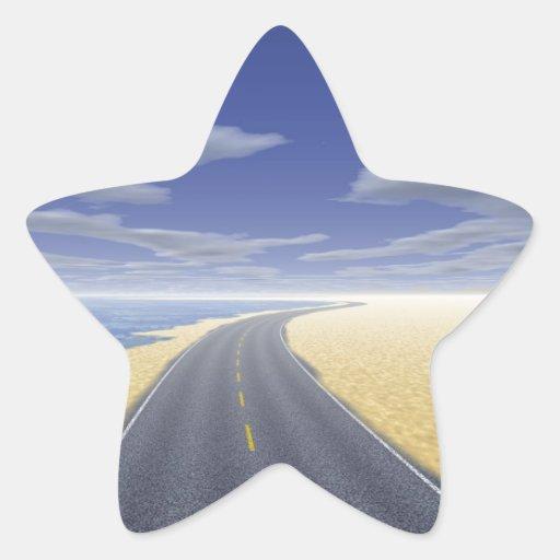 OnTheRoadAgain - día agradable Pegatina En Forma De Estrella