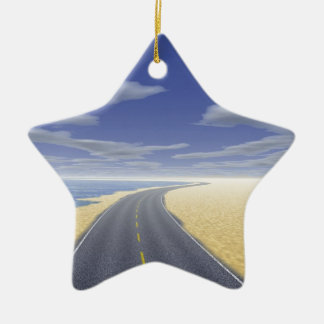 OnTheRoadAgain - Fine Day Double-Sided Star Ceramic Christmas Ornament