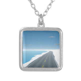 OnTheRoadAgain - Ice Road Silver Plated Necklace