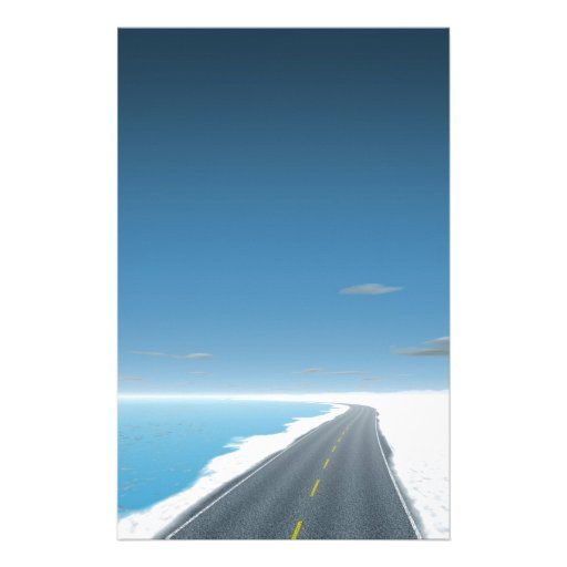 OnTheRoadAgain - Ice Road Stationery Design
