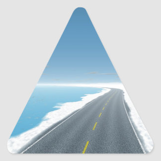 OnTheRoadAgain - Ice Road Triangle Sticker