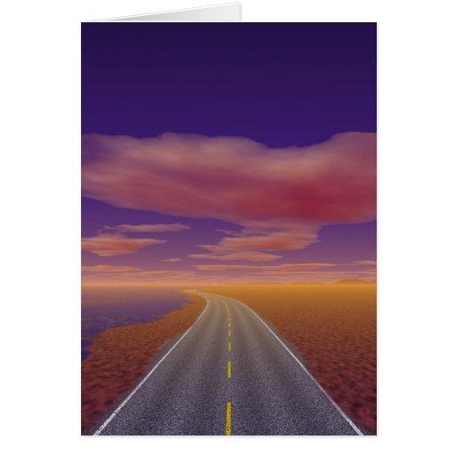 OnTheRoadAgain - Lonesome Trucker Greeting Card
