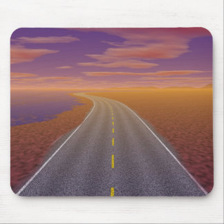 OnTheRoadAgain - Lonesome Trucker Mouse Pad