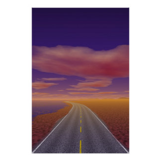OnTheRoadAgain - Lonesome Trucker Poster