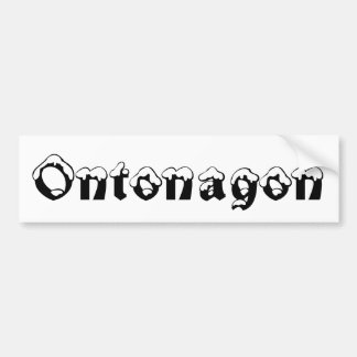 Ontonagon Michigan Snow Bumper Sticker