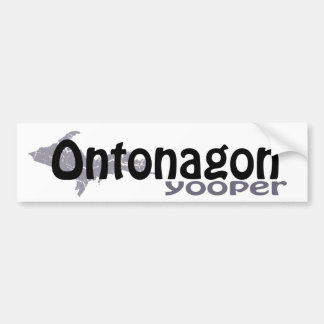 Ontonagon Michigan Yooper Bumper Sticker