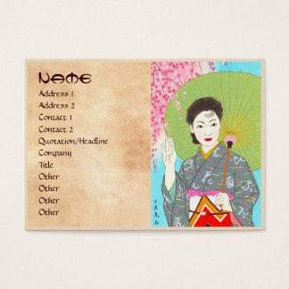 Onuma Chiyuki Japanese Girls Month - April, Shade Business Card