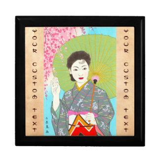 Onuma Chiyuki Japanese Girls Month - April, Shade Trinket Box