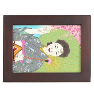 Onuma Chiyuki Japanese Girls Month - April, Shade Keepsake Boxes