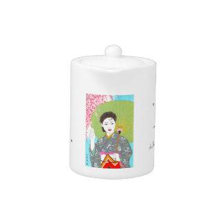 Onuma Chiyuki Japanese Girls Month - April, Shade Teapot