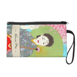 Onuma Chiyuki Japanese Girls Month - April, Shade Wristlet Clutch
