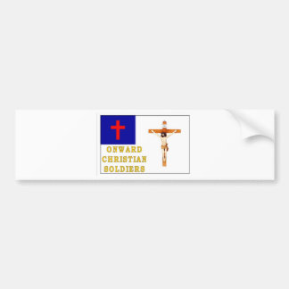 ONWARD CHRISTIAN SOLDIERS BUMPER STICKER