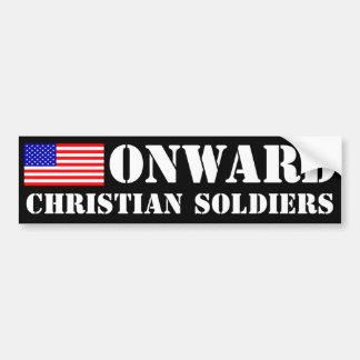 Onward Christian Soldiers Car Bumper Sticker