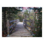 Onward Maine Wood Bridge Poster
