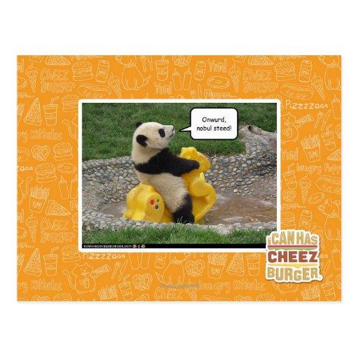 Onwurd, nobul steed! postcard