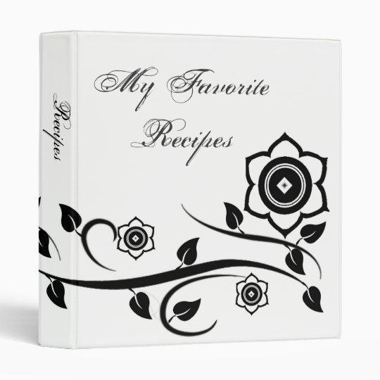 Onyx Blooms Recipe Book Binder