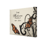 Onyx Butterfly Swirl Family Wrapped Canvas Canvas Prints