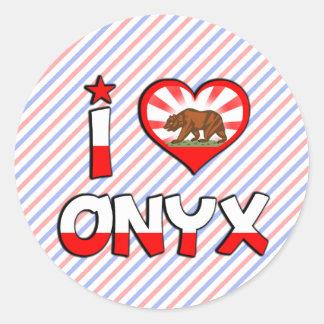 Onyx, CA Classic Round Sticker