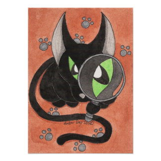 Onyx cat 'Something is Afoot' Poster