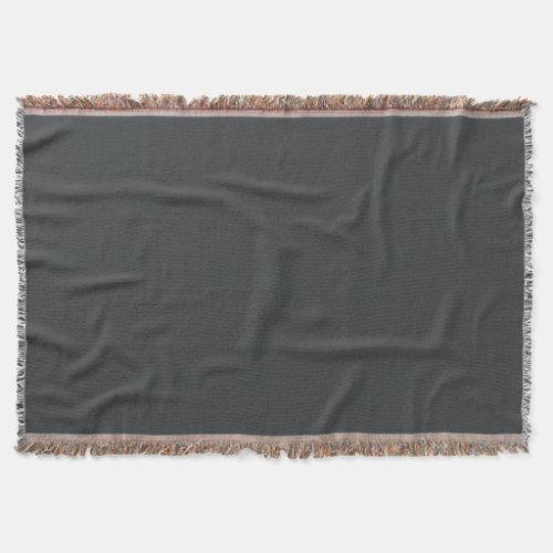 Onyx-Colored Throw Blanket