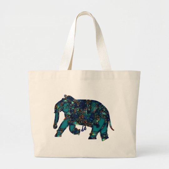 Onyx Elephant Large Tote Bag