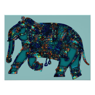 Onyx Elephant Poster