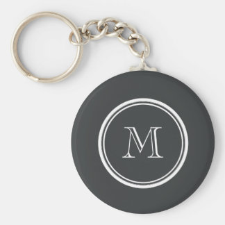 Onyx High End Colored Personalized Basic Round Button Keychain