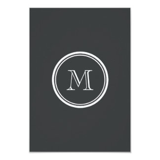 Onyx High End Colored Personalized 3.5x5 Paper Invitation Card