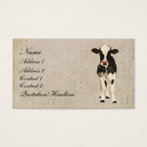 Onyx & Ivory Cow Business Card/Tags Business Card
