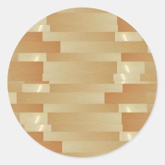 ONYX Marble Balls - Golden Wheat Jewels Classic Round Sticker