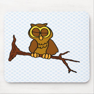 Onyx Owl Mouse Pad