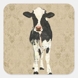 Onyx & Pearl Cow  Sticker