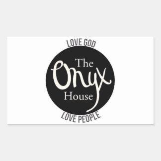 Onyx Rectangular Sticker