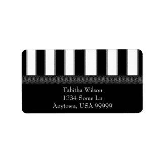 Onyx Stripe Address Label
