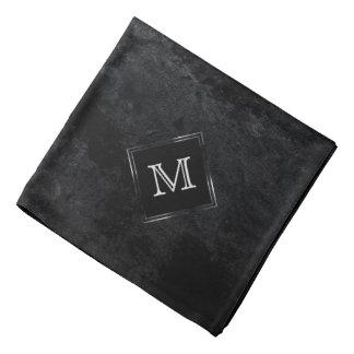 Onyx Style | Monogram Black Charcoal Gray Matte Bandana