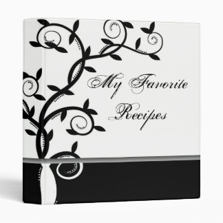 Onyx Vine Recipe Book Binders