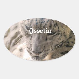 Onza de Ossetia Pegatina Ovalada