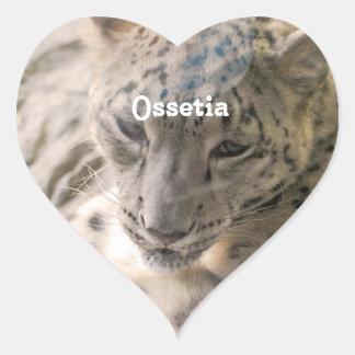 Onza de Ossetia Pegatina En Forma De Corazón