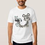 Onza del dibujo animado y camiseta de los niños de playera