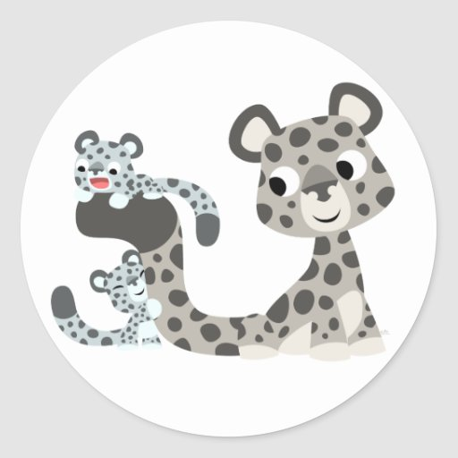Onza del dibujo animado y pegatina de Cubs
