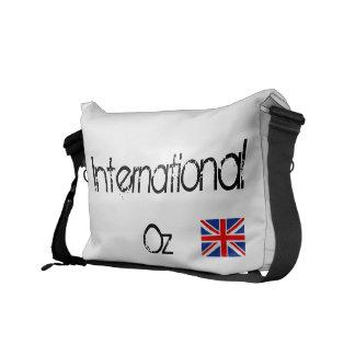 Onza internacional - Bolso británico del viaje de Bolsas De Mensajería