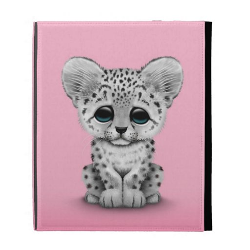Onza linda Cub del bebé en rosa