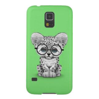 Onza linda Cub del bebé en verde Carcasas De Galaxy S5